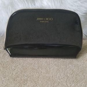 New Jimmy Choo Black Patent Makeup Bag